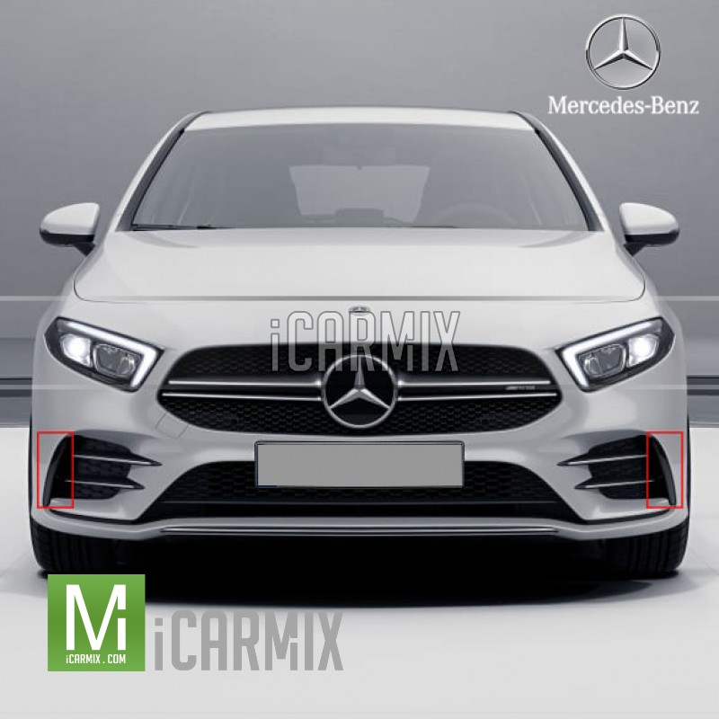 Genuine Mercedes Benz C43 AMG Front Bumper Flaps For C Class W205 C205 A205 C205 Facelift - 2018-2020