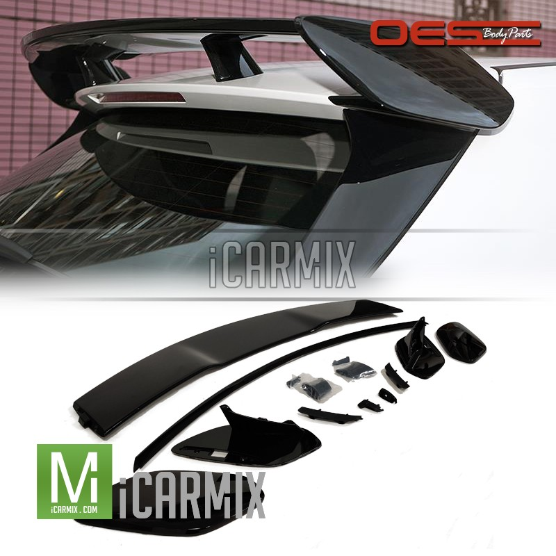 OES Mercedes Benz A35 Amg Black Rear Spoiler For A Class W177 - 2018-2019