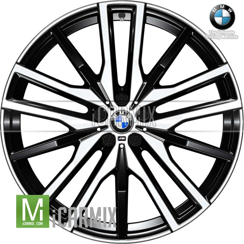 "Genuine  BMW 22"" Double Spoke 742M Front & Rear Light Alloy Wheel For G05 X5 G06 X6"
