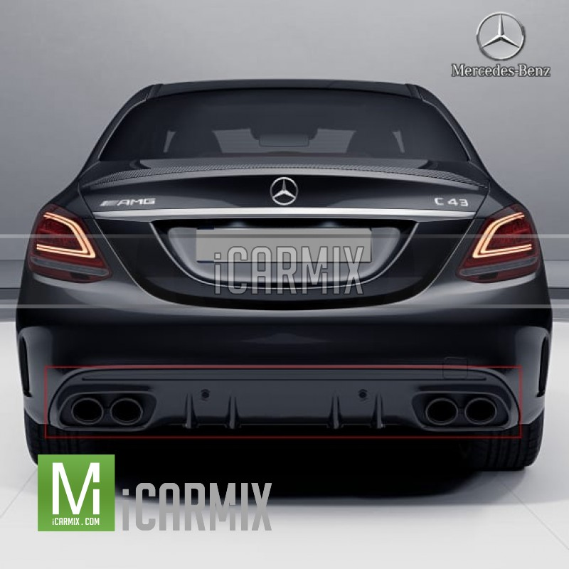 Mercedes Benz C43 Amg Coupe Indonesia: Genuine Mercedes Benz C43 AMG Night Package W/ Black Tip
