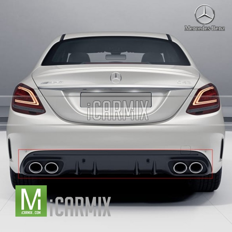 Genuine Mercedes Benz C43 AMG Night Package W/ Chrome Tip