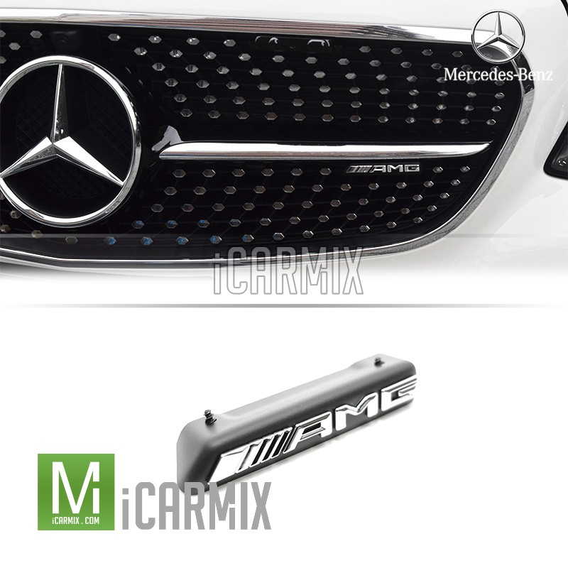 genuine oem amg front grille emblem for mercedes benz w213. Black Bedroom Furniture Sets. Home Design Ideas