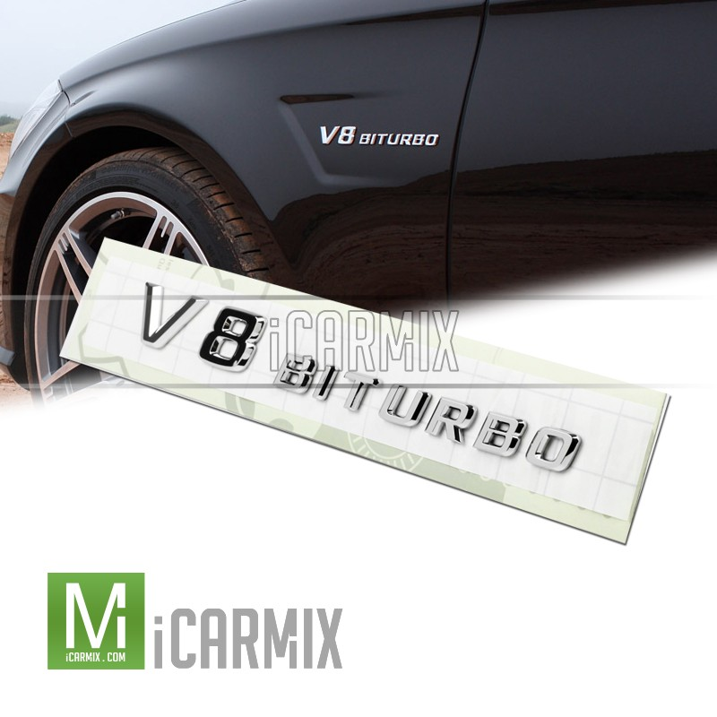 Genuine  Mercedes-Benz Side Fender Emblem - V8 Biturbo