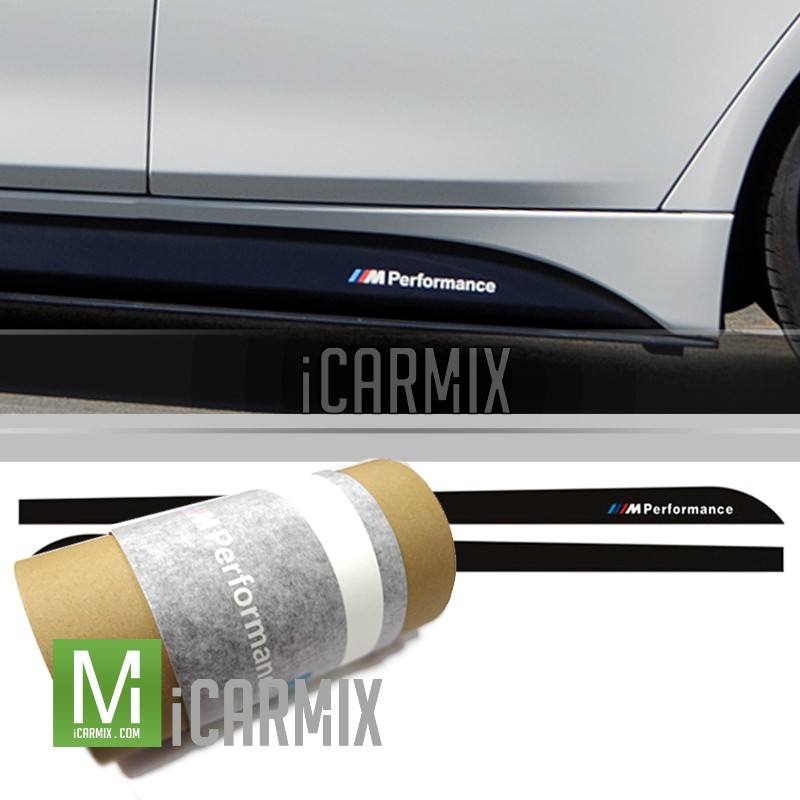genuine oem m performance side skirt sticker for bmw f30. Black Bedroom Furniture Sets. Home Design Ideas