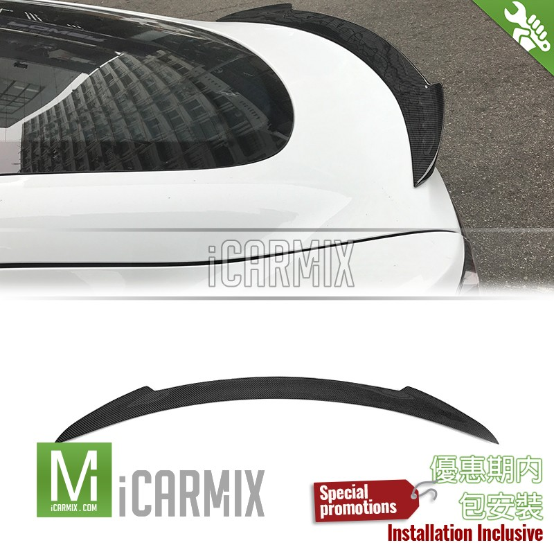 EURSPEC Carbon Fibre Rear Spoiler Type 2 For Tesla Model S 70D S85 P85 90D P90D Pre & Facelift -2012-2017