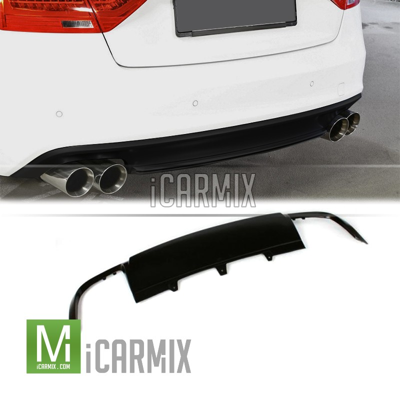 pu rear diffuser 00 00 s5 style for audi a5 8t 4dr pre. Black Bedroom Furniture Sets. Home Design Ideas
