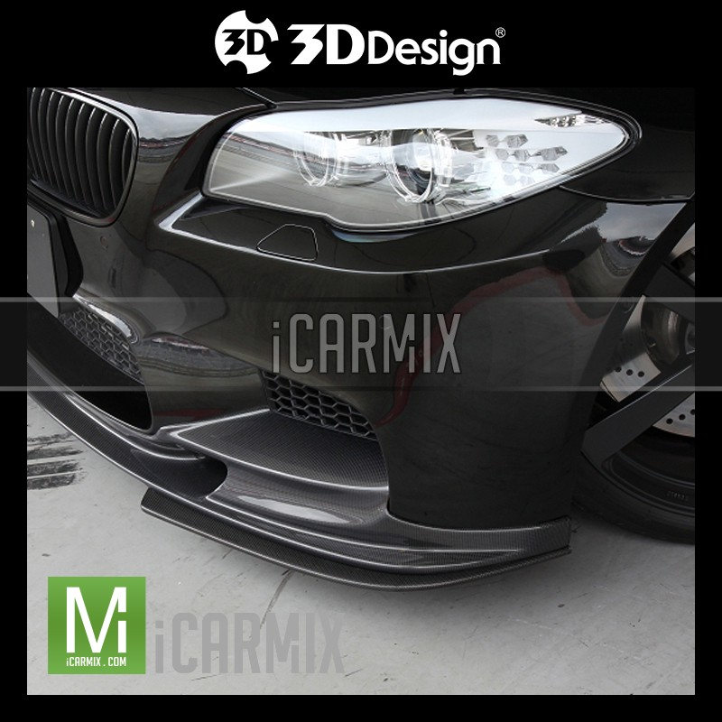 3D Design Performance Carbon Fibre Carbon Fibre Front Splitter Apron For BMW 5 Series F10 M5 - 2010-2016