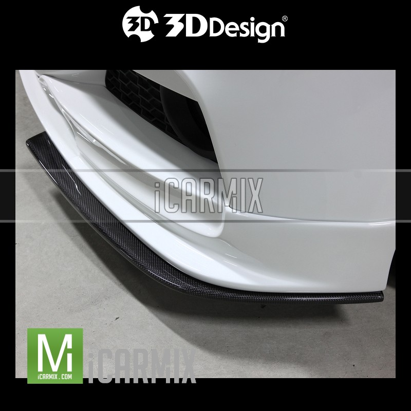 3D Design Performance Carbon Fibre Front Splitter Apron For BMW 3 Series F30 F31 - 2012-2018
