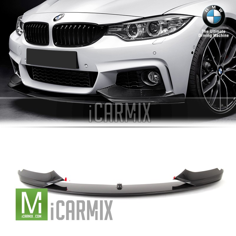 3adf5afb390 genuine oem carbon fibre m performance front lip for bmw 4 series f32 f36 (m-tech  bumper)