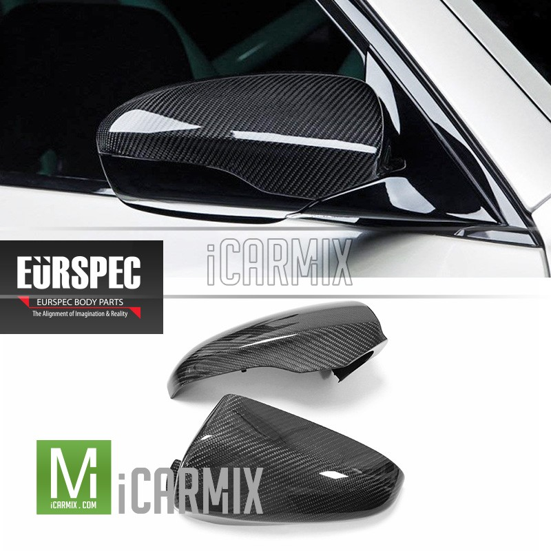 EURSPEC Carbon Fibre Replacement Mirror Cover For Bmw M6 F06 F12 F13 - 2012-2018