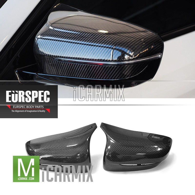 EURSPEC Carbon Fibre Replacement Mirror Cover For BMW M5 F90 - 2017-2018