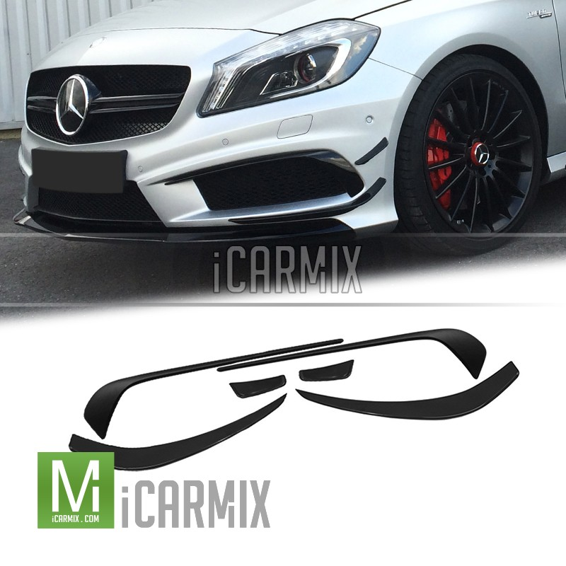 OES Upgrade Accessories Front Diffuser Kit (6PCS) A45 AMG