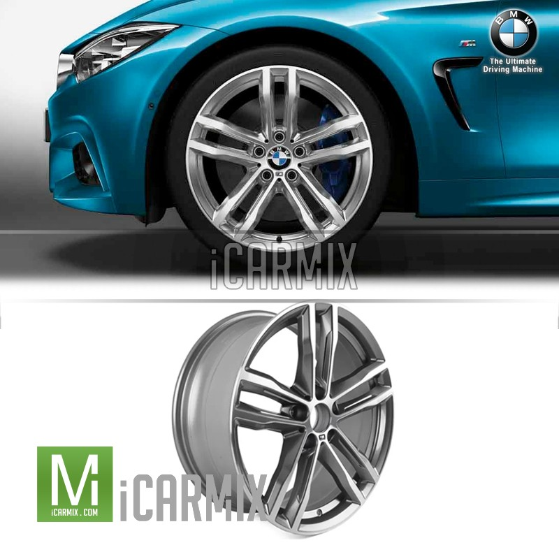 "Genuine OEM 19"" 704m Double Spoke Light Alloy Rim Ferricgrey Front Wheel For BMW F30 F31 F32 F33 F36"