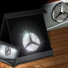 Mercedes Benz Rear Emblem Crystal Decoration For C Class W204