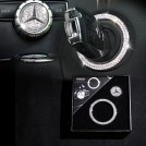 Mercedes Benz Ignition Crystal Key Hole Cover Ring & Command Button Cover For W205 W176 W117 X156 **Swarovski