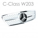 EURSPEC Front Grille For Mercedes-Benz C-Class W203 (2000-2006)
