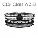 EURSPEC Piano Black Front Grille CLS63 AMG Style For Mercedes Benz CLS Class W218 Pre Facelift 2011 - 2014 (STD)