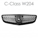 EURSPEC Front Grille For Mercedes-Benz C-Class W204 (Style 4 - C63 AMG Style)
