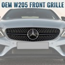 Genuine OEM Mercedes Benz Diamond Style Front Grille For C-Class W205