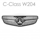 EURSPEC Front Grille For Mercedes-Benz C-Class W204 (Style 3 - Diamond Style)