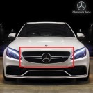 Genuine OEM Silver Front Grille C63 Style For Mercedes Benz C Class W205 - 2014-2017