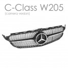 EURSPEC Front Grille For Mercedes Benz C-Class W205 (Camera Version)