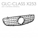 EURSPEC Front Grille GLC 63 Style For Mercedes Benz GLC Class X253 SUV C253 Coupe - 2016-2018 (W/ Camera Hole)