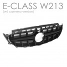 EURSPEC Front Grille E63 Style For Mercedes Benz E Class W213 A238 C238 - 2017-2018 (Avantgarde Version W/ Camera Hole)