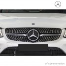 Genuine OEM Piano Black Front Grille Diamond Style For Mercedes Benz GLC Class X253 - 2016-2018