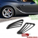 EURSPEC Carbon Fibre Rear Side Fender Vent Type OE For Porsche Boxster S Cayman 987 -2005-2013
