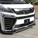 Silkblaze Toyota Alphard Front Bumper Chorme Trim Cover Package For Vellfire 30 Facelift - 2018-2019