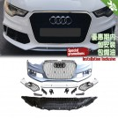 OES Body Parts PP Front Bumper RS Style W/ ACC W/ Chrome Front Grille For Audi A6 C7 4G Pre Facelift 2011-2015