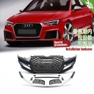 OES Body Parts PP Front Bumper RS Style W/ Chrome Front Grille For Audi A4 B9 8W (2016-2017)