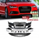 OES Body Parts PP Front Bumper RS Style W/ ACC W/ Chrome Front Grille For Audi A6 S6 C7 Facelift 2016-2017