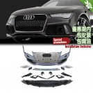 OES PP Front Bumper RS Style W/ Chrome Grille For Audi A7 4G Pre - Facelift - 2009-2014 [SPECIAL VERSION]