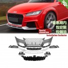 OES PP Front Bumper W/ Quattro Grille RS Style For Audi TT FV/8S MK3 - 2014-2018