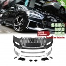 PP Front Bumper RS Style W/ Quattro Grille For AUDI A5 F5 S5 Sline Coupe / Sportback - 2017-2018