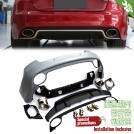 OES PP Rear Bumper w/ Diffuser RS Style For Audi A5 2Dr Coupe / Convertible Pre & Facelift - 2007-2016