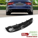 OES Rear Diffuser RS Style (Black Trim) For AUDI A7 4G8 Pre - 2010-2015 (STD)