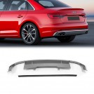 OES PP Rear Diffuser (GREY) S4 Style For AUDI A4 B9 8W - 2016-2019 (Standard)