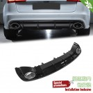 OES Rear Diffuser RS Style (Black Trim) For AUDI A6 C7 4G Facelift - 2016-2017 (Standard Bumper)