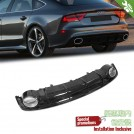 OES Rear Diffuser RS Style (Black Trim) For AUDI A7 4G8 Facelift - 2015-2018 (Standard Bumper)