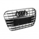 EURSPEC Front Grille S6 Style For Audi A6 C7 Pre - 2012-2015