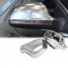 Audi A4 S4 B8 (08'-09') SLine Style Mirror Cover - Matt Chrome (Lane Assist)