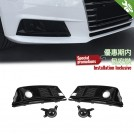 OES Air Duct Cover Grille W/ Acc (Black Trim) S4 Style For Audi A4 B9 8W - 2016-2019 (Standard)