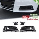 OES Air Duct Cover Grille W/ Acc (Silver Trim) S4 Style For Audi A4 B9 8W - 2016-2017 (STD)