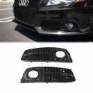 OES Fog Lamp Grille RS Style (Black Trim) For Audi A4 B8 Pre  - 2008-2012