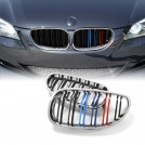 EURSPEC Dual Slats Tri-Color Front Grille For BMW 5 Series E60 E61 (2003-2009) & M5