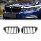 Genuine OEM Cerium Grey Single Slats Front Grille M Performance Style For BMW 5 Series G30 G31 - 2016-2018