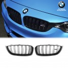 Genuine OEM Gloss Black Front Grille M Performance Style For BMW M3 F80  - (2015-2018)